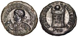 Ancient Coins - Constantine II BEATA from Trier…holding horse…Not in RIC