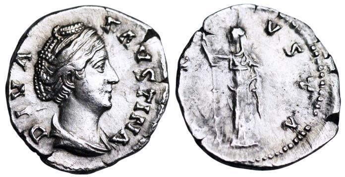 Ancient Coins - Faustina I AVGVSTA; Juno from Rome