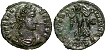 Ancient Coins - Constans VICTORIA AVGG from Siscia with Chi-Rho
