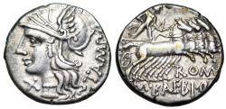 Ancient Coins - Baebia 137 BC Republican denarius… with old holder from the Roman Baths