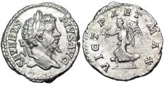 Ancient Coins - Septimius Severus VICT PART MAX from Rome