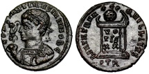 Ancient Coins - Constantine II BEATA TRANQVILLITAS from Trier...unofficial issue