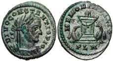 Ancient Coins - Constantius I MEMORIA FELIX posthumous issue from London