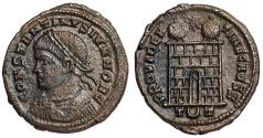 Ancient Coins - Constantine II campgate from Ticinum...unofficial issue