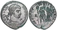 Ancient Coins - Vetranio HOC SIGNO VICTOR ERIS from Siscia