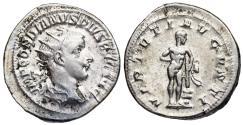 Ancient Coins - Gordian III VIRTVTI AVGVSTI from Rome