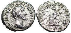 Ancient Coins - Marcus Aurelius CONCORD AVG TR P XV COS III denarius from Rome