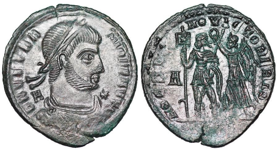Ancient Coins - Vetranio HOC SIGNO VICTOR ERIS from Siscia