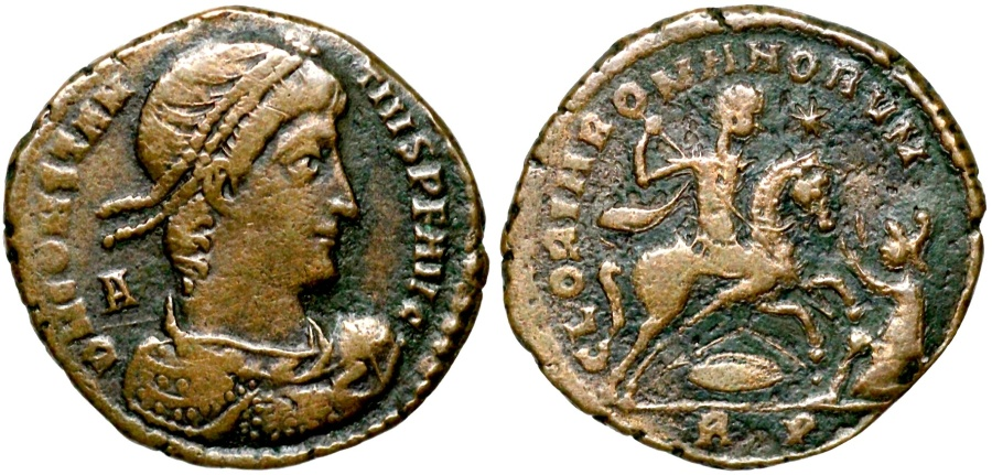 Ancient Coins - Constantius II GLORIA ROMANORVM from Rome...issued by Magnentius or Nepotian
