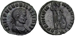 Ancient Coins - Crispus PRINCIPIA IVVENTVTIS from Thessalonica