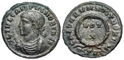 Ancient Coins - Crispus VOT X from Thessalonica...unlisted workshop