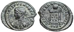 Ancient Coins - Crispus BEATA from Trier...Medusa on shield