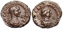 Ancient Coins - Aurelian and Vabalathus tetradrachm from Alexandria