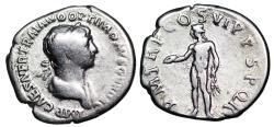 Ancient Coins - Trajan PM TR P COS VI P P SPQR; Genius from Rome