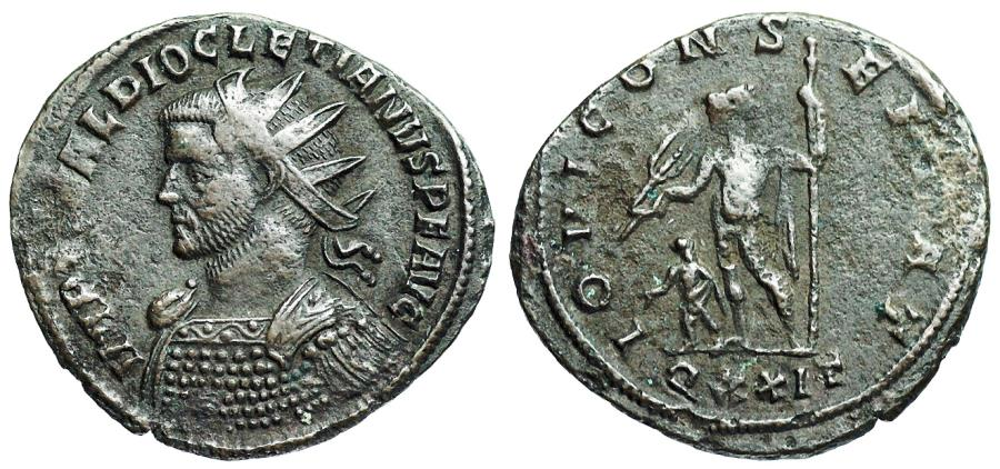 Ancient Coins - Diocletian IOVI CONSERVAT from Ticinum...Not in RIC