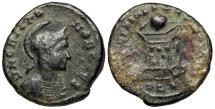 Ancient Coins - Crispus BEATA TRANQLITAS from Lyons...Not in RIC