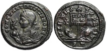 Ancient Coins - Constantine II VIRTVS EXERCIT from Ticinum with Chi-Rho