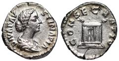 Ancient Coins - Faustina II CONSECRATIO from Rome