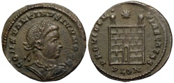 Ancient Coins - Constantine II campgate from London...Not in RIC