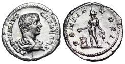 Ancient Coins - Geta PONTIF COS II; Genius from Rome