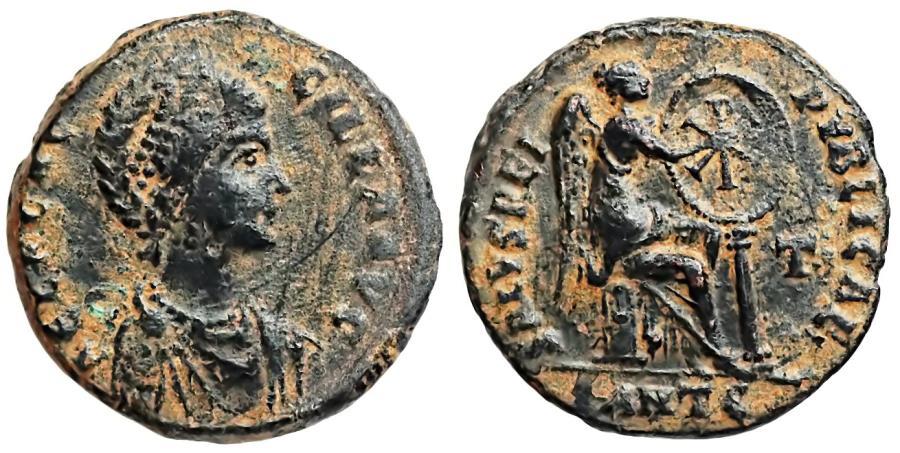 Ancient Coins - Aelia Flaccilla SALVS REIPVBLICAE AE2 from Antioch