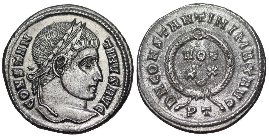 Ancient Coins - Constantine I VOT XX from Ticinum
