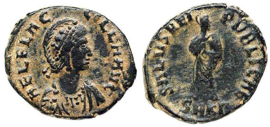 Ancient Coins - Aelia Flaccilla SALVS REIPVBLICAE from Cyzicus