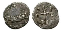 Ancient Coins - Rome, Marc Antony, 32-31 BC, AR Legionary Denarius