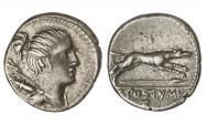 Ancient Coins - Roman Republic, C Postumius, 74 BC AR Denarius