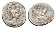 Ancient Coins - Roman Republic, M Plaetorius Mf Cestianus, 67 BC, AR Denarius