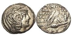 Ancient Coins - Athens, Attica,100-99 BC, AR New Style Tetradrachm