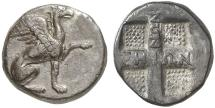 Ancient Coins - Ionia, Teos, Circa 475-465 BC. AR Drachm