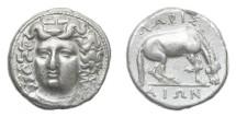 Ancient Coins - Thessaly, Larissa 350-325 BC, AR Drachm