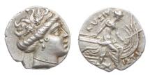 Ancient Coins - Euboia, Histiaia, 300-200 BC, AR tetrobol