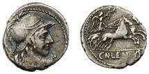 Ancient Coins - Roman Republic, Cornelius Lentulus, 88 BC AR Denarius