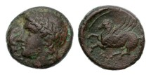 Ancient Coins - Sicily, Syracuse, Time of Timeoleon, 345-317 BC, AE18