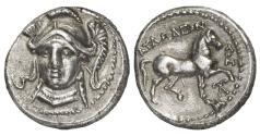 Ancient Coins - Paeonian Kingdom, Audoleon, 315-285 BC, AR Tetradrachm