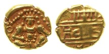 World Coins - India, Chitaldrug, ca 1565-1779, AV Durgi Pagoda