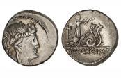 Ancient Coins - Roman Republic, M Volteius Mf, 75 BC, AR Denarius