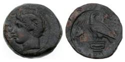 Ancient Coins - Sicily, Akragas, c. 400-380 BC. Æ Hemilitron