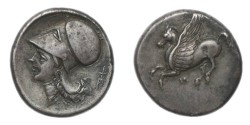 Ancient Coins - Akarnania, Leukas. Circa 340-290/80 BC, AR Stater