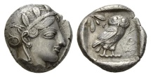 Ancient Coins - Athens, Attica, 415-400 BC, AR Tetradrachm