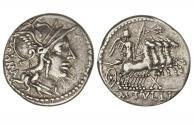 Ancient Coins - Roman Republic, M Tullius, 120 BC, AR Denarius