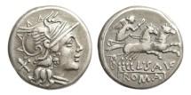 Ancient Coins - Roman Republic, L Saufeius, 152 BC, AR Denarius
