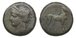 Ancient Coins - Zeugitania, Carthage, 264-241 BC, Billon Tridrachm