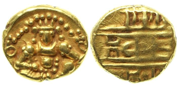 Ancient Coins - India, Chitaldrug, ca 1565-1779, AV Durgi Pagoda