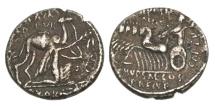 Ancient Coins - Roman Republic, M Aemilius Scaurus and Pub Plautius Hypsaeus.58 BC, AR denarius