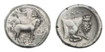 Ancient Coins - Sicily, Gela, 450-440 BC, AR Tetradrachm