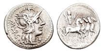 Ancient Coins - Roman Republic, M Marcius Mn F, 134 BC, AR Denarius