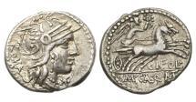Ancient Coins - Roman Republic, Cn Fulvius, M Calidius, Q Caecilius Metellus, AR Denarius